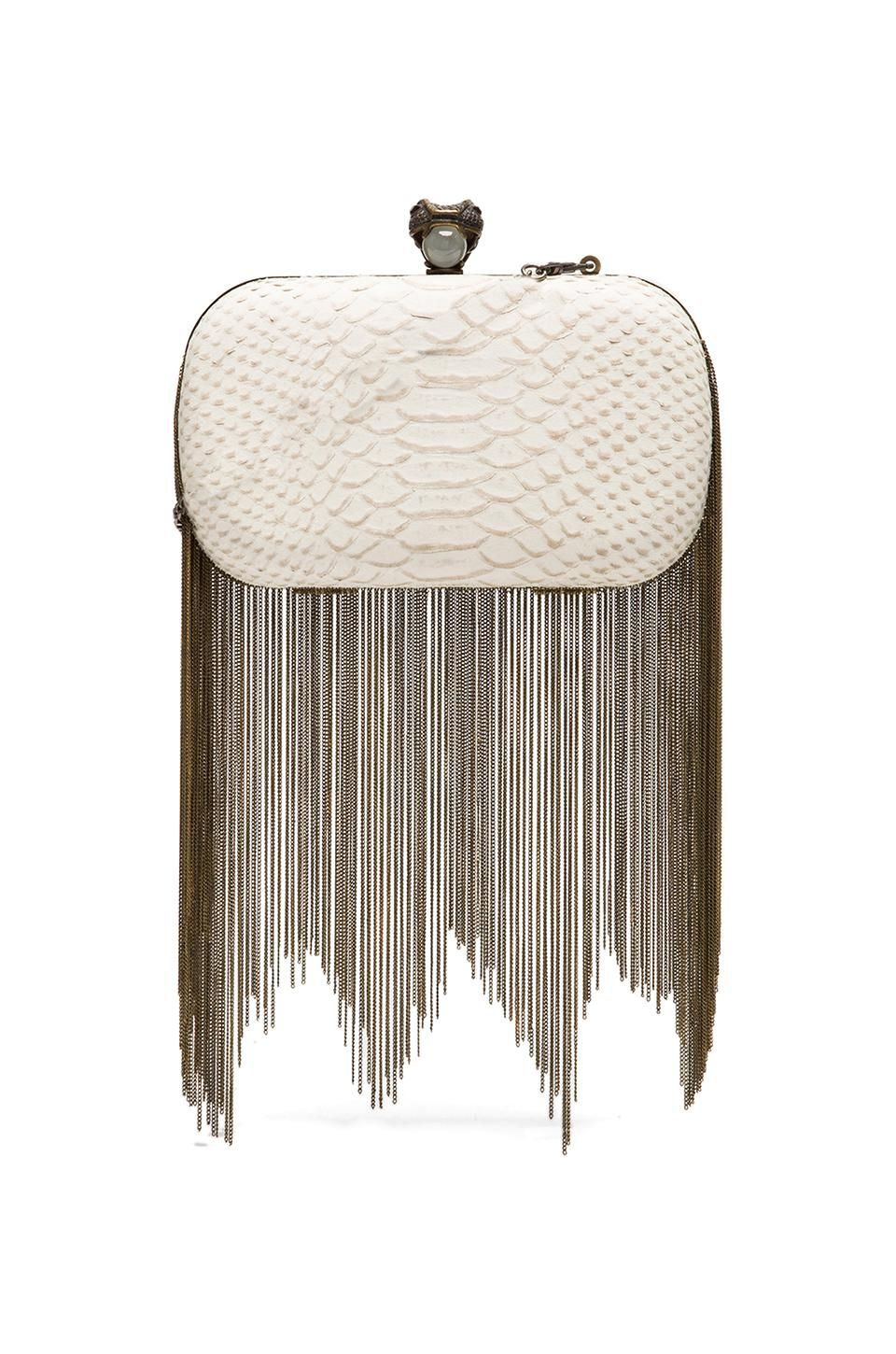 House of Harlow 1960 House of Harlow Jude Clutch in Ivory Snake