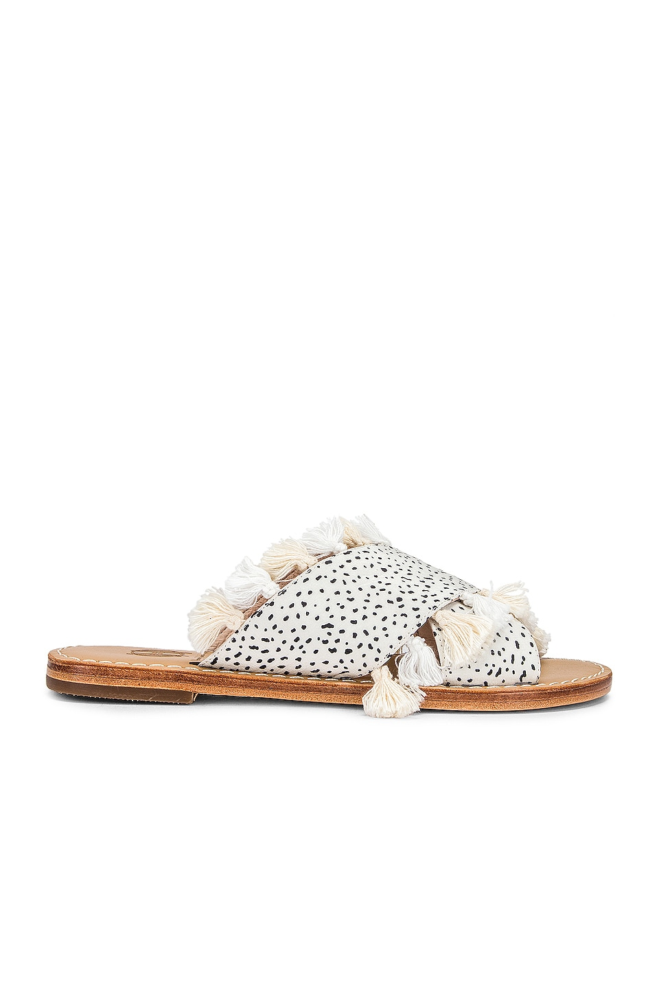 House of Harlow 1960 X REVOLVE Ginny Slide in White Multi