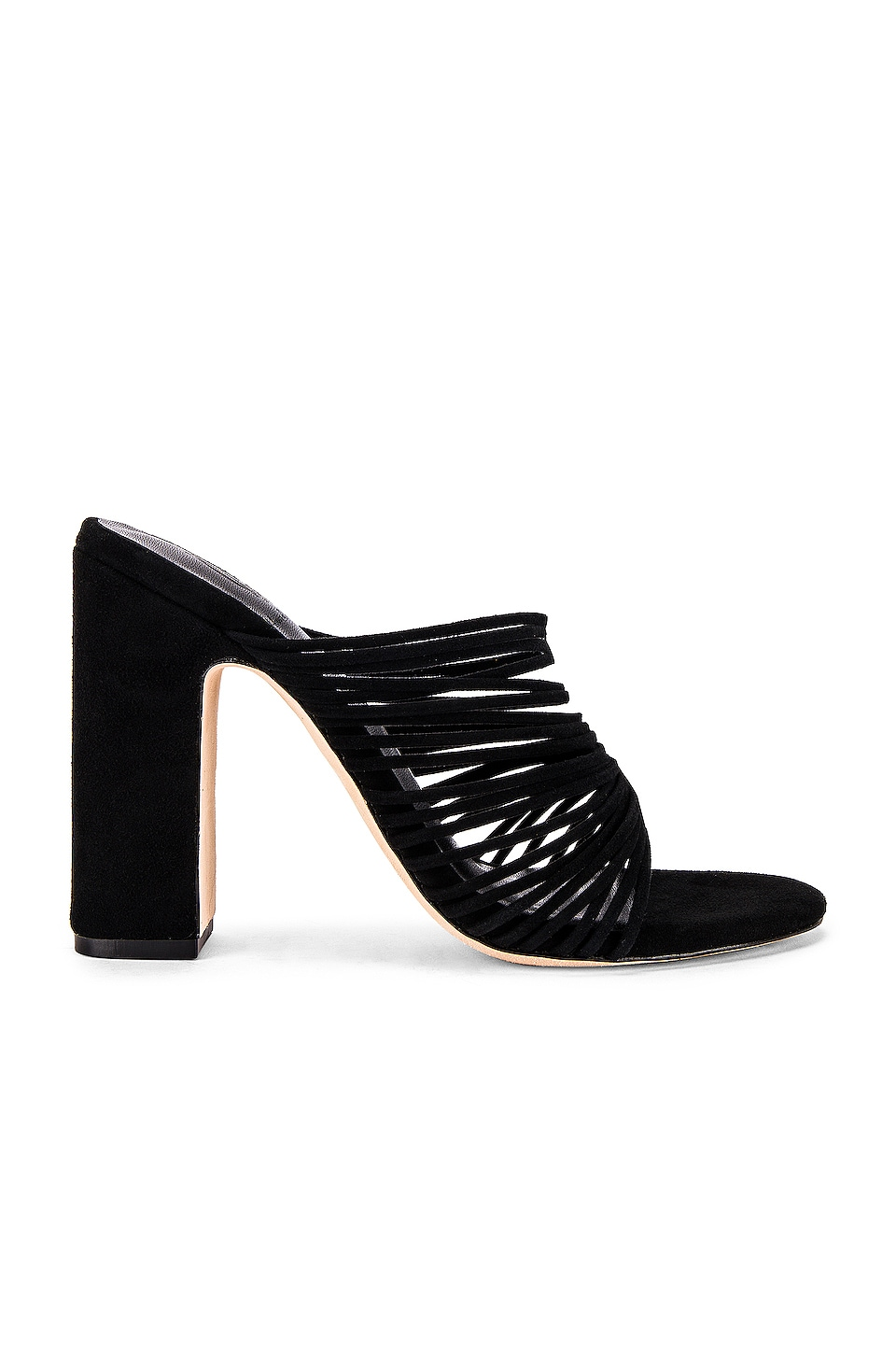 House of Harlow 1960 X REVOLVE Fawn Heel in Black