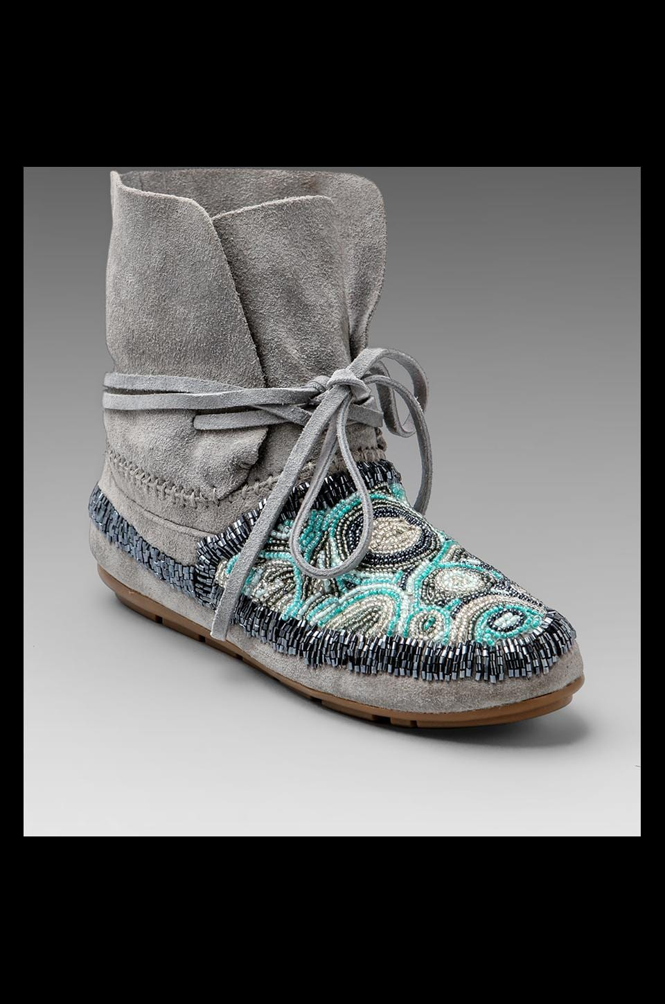 House of Harlow 1960 House of Harlow Mallory Moccasin in Dove Grey