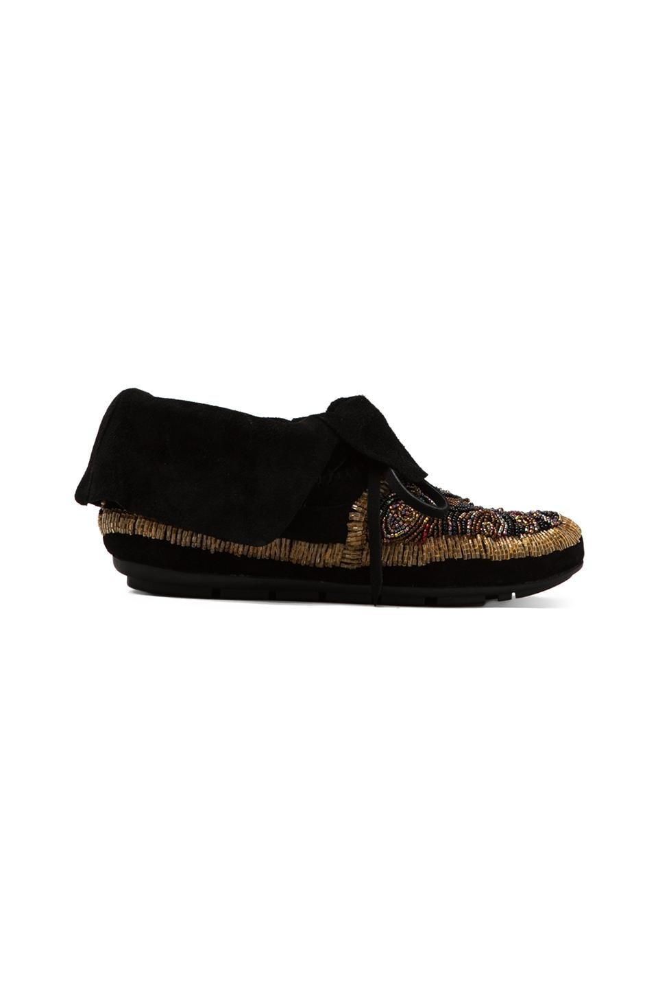 House of Harlow Mallory Moccasin in Black