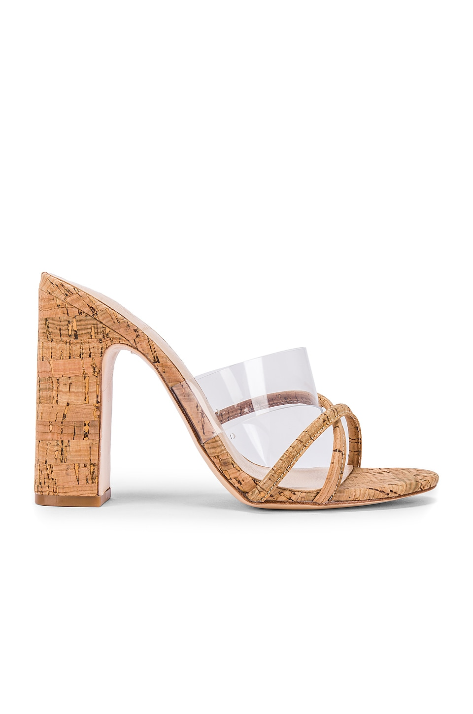 House of Harlow 1960 X REVOLVE Sasha Heel in Natural Cork
