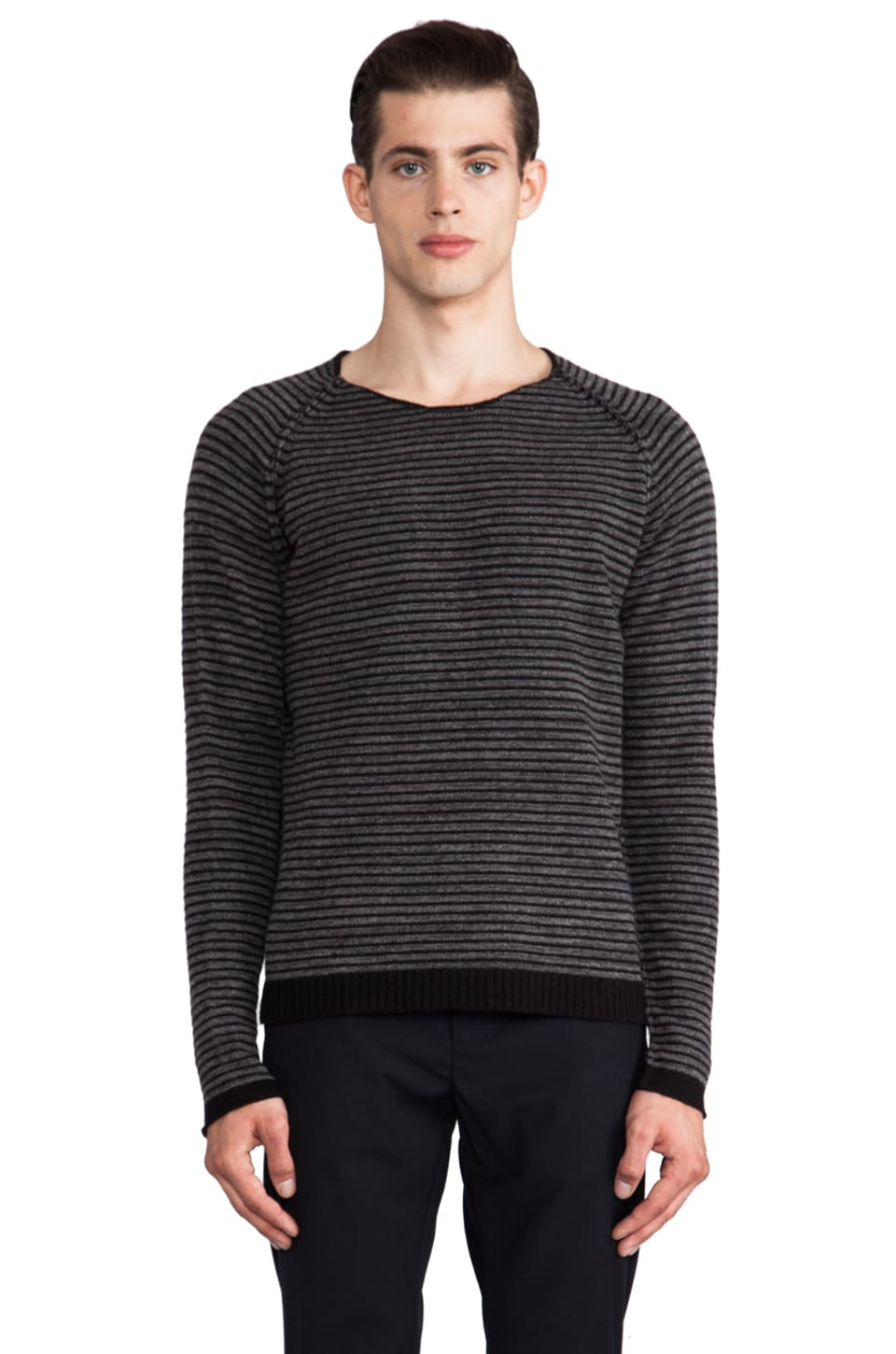 Hope Sweater in Black Stripe