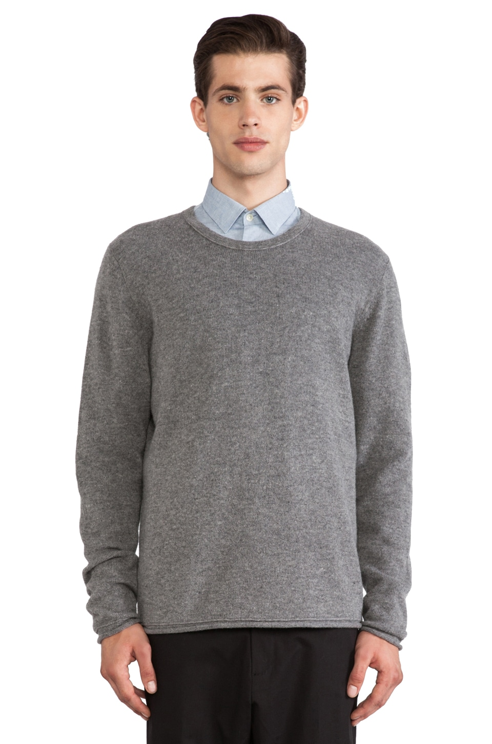 Hope Con Sweater in Grey Melange