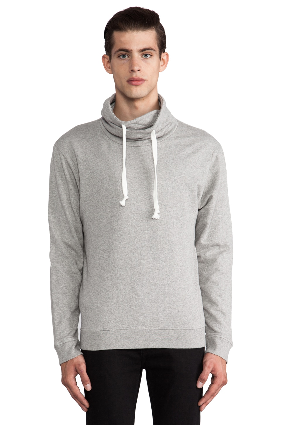 Hope Brag Sweatshirt en Gris Chiné