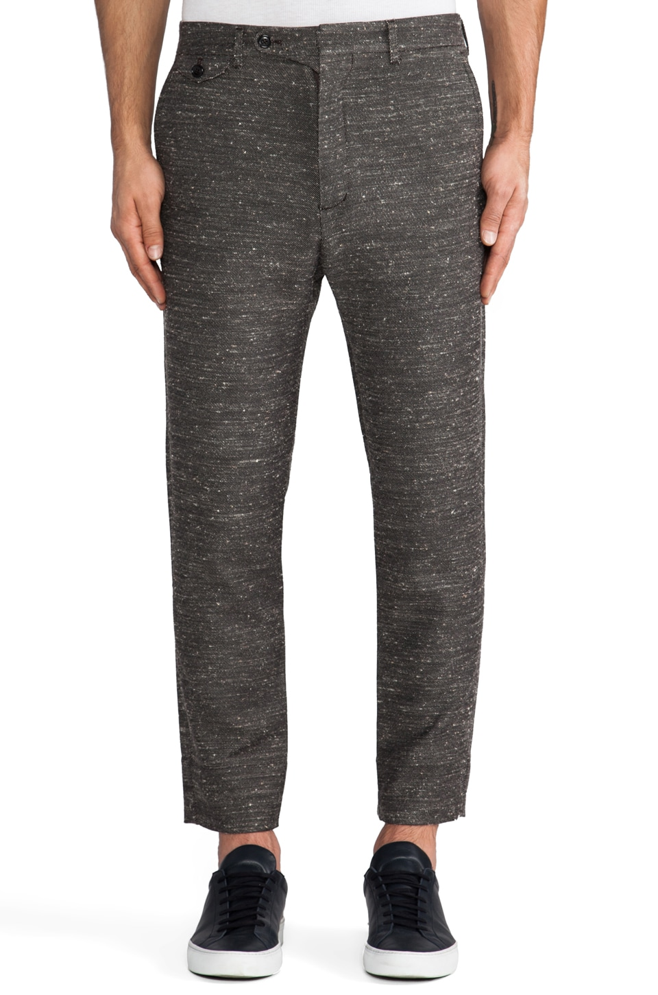Hope Edwin Trouser en Black Pattern