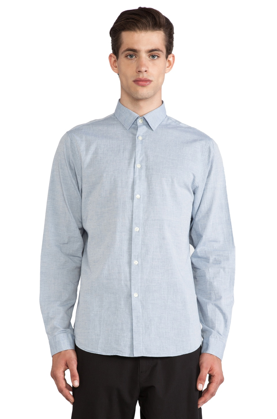 Hope Roy Button Down in Light Blue