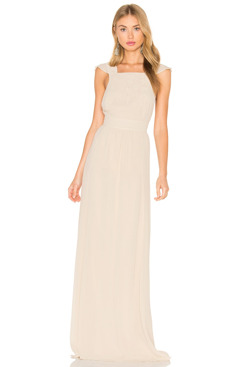 Hoss Intropia Sleeveless Square Neck Maxi Dress in Linen