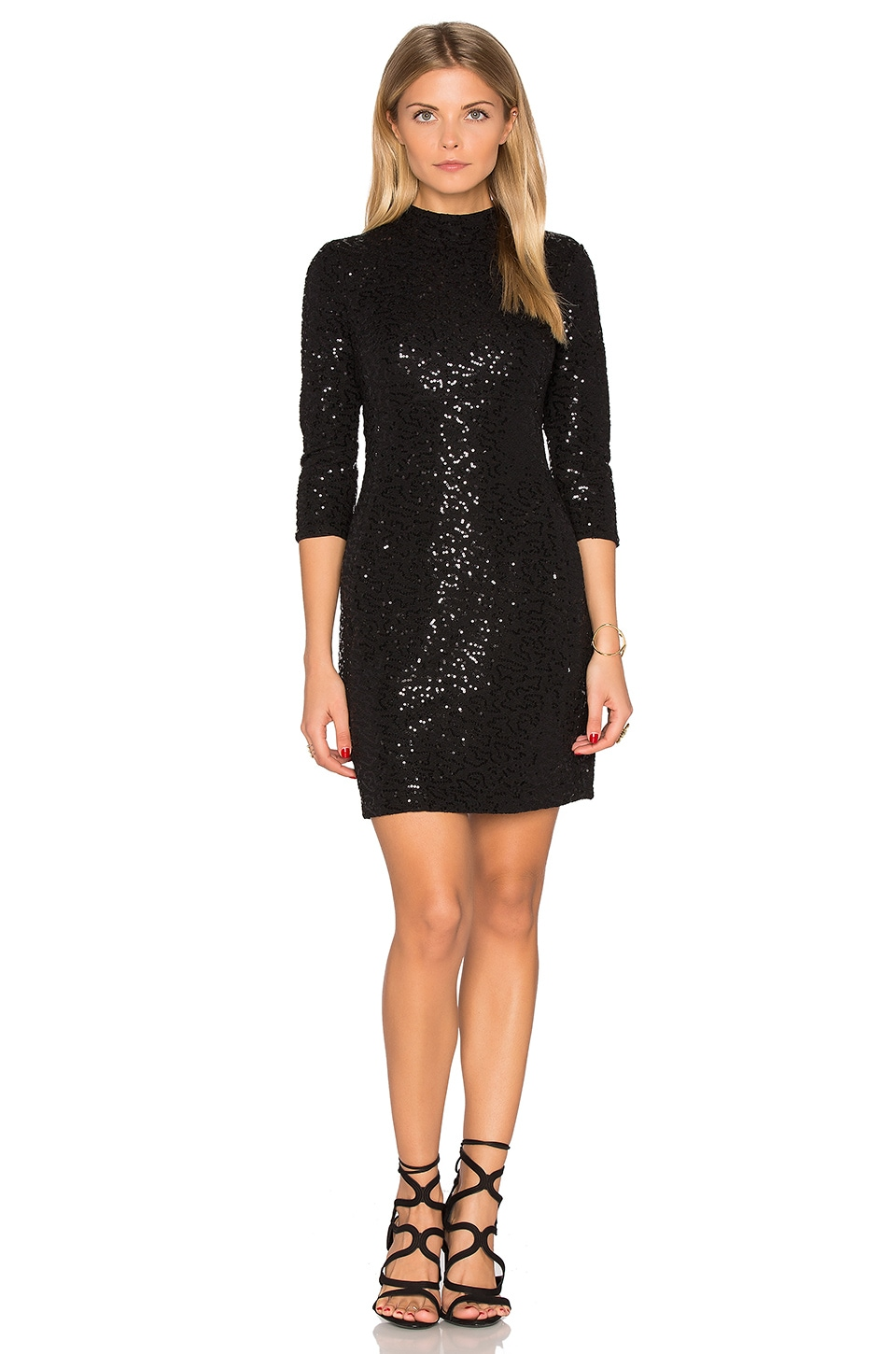Long Sleeve Embellished Mini Dress by Hoss Intropia