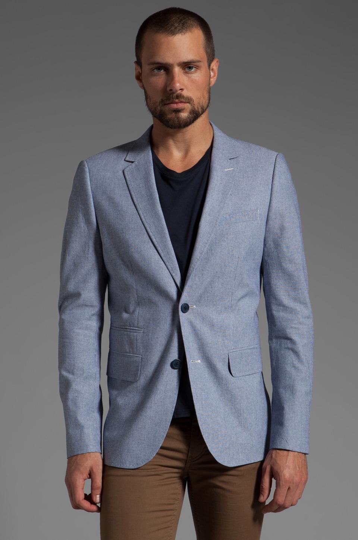 Howe Personal Jesus Dobby Stripe Blazer en Bleu