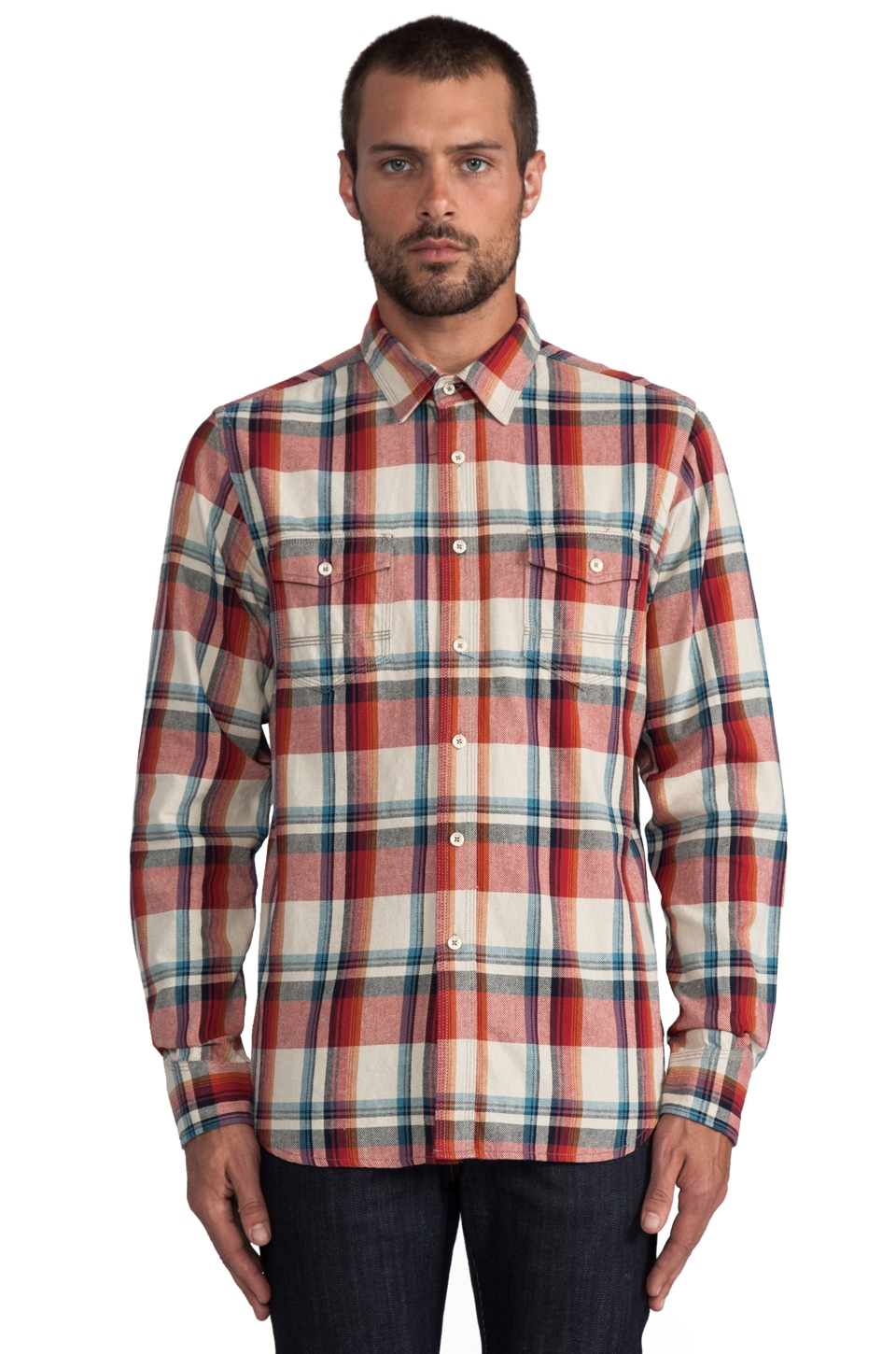 Howe Rag and Stone Plaid Shirt in Red