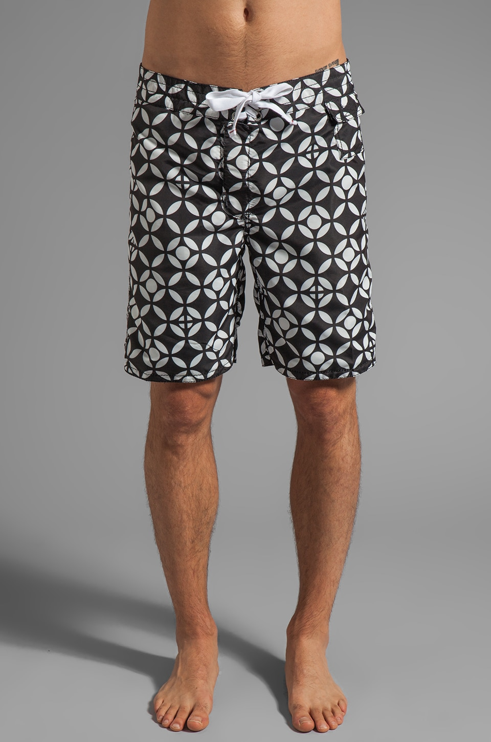 Howe Poolside Reversible Board Shorts in Black