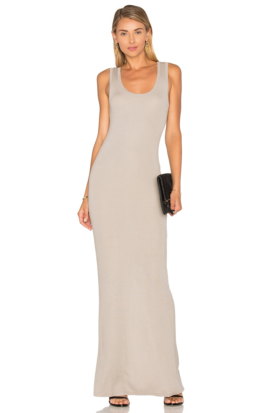 914aae23996 Heather Scoop Neck Tank Maxi Dress in Birch