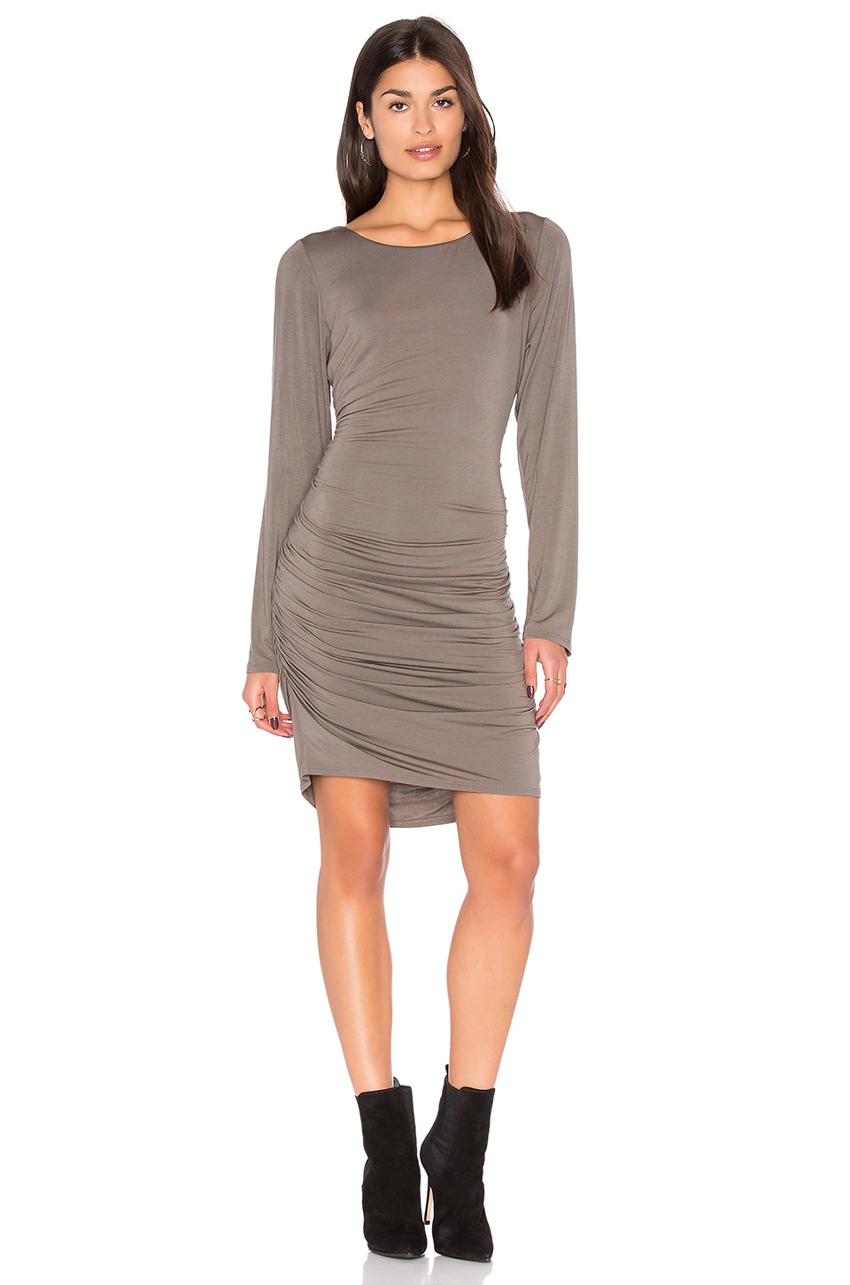 Shirred Side Scoop Back Dress by Heather