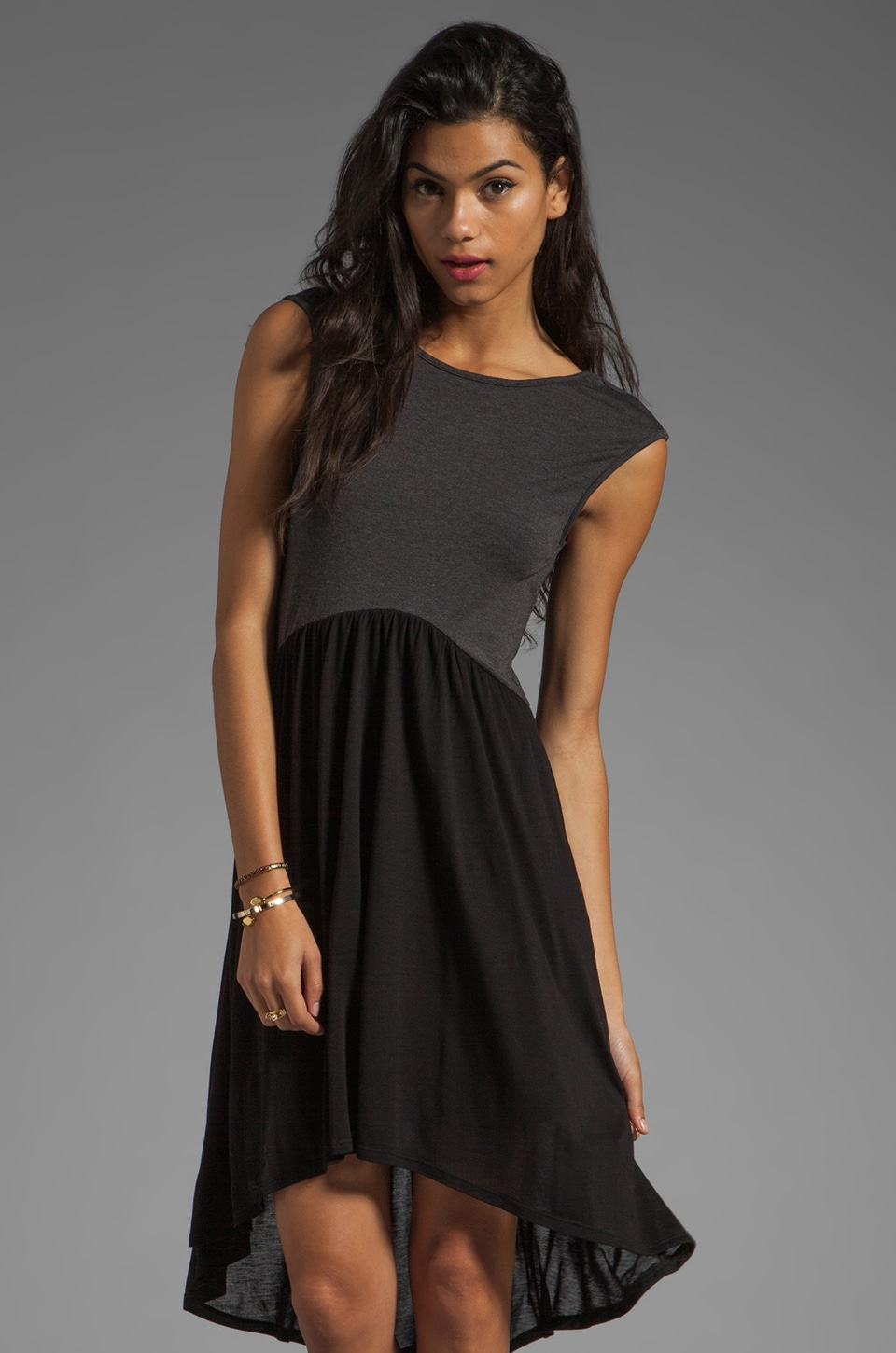 Heather Hi-Lo Ballet Dress in Black