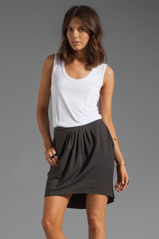 Heather Hi-Lo Dress in White/Black