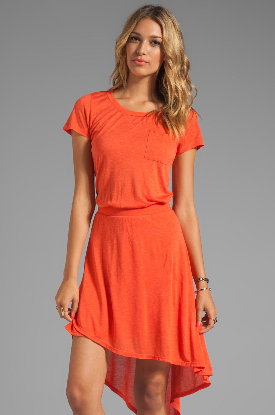 Heather Wrap Tee Dress in Heather Bellini