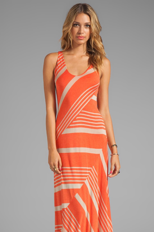 Heather Engineered Stripe Slice Dress in Bellini Khaki