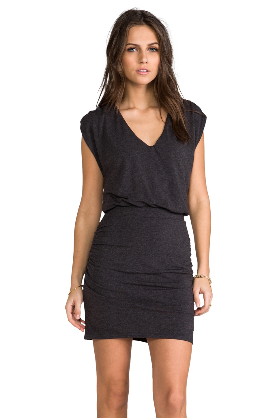 Heather Chandelier Mini Dress in Heather Black