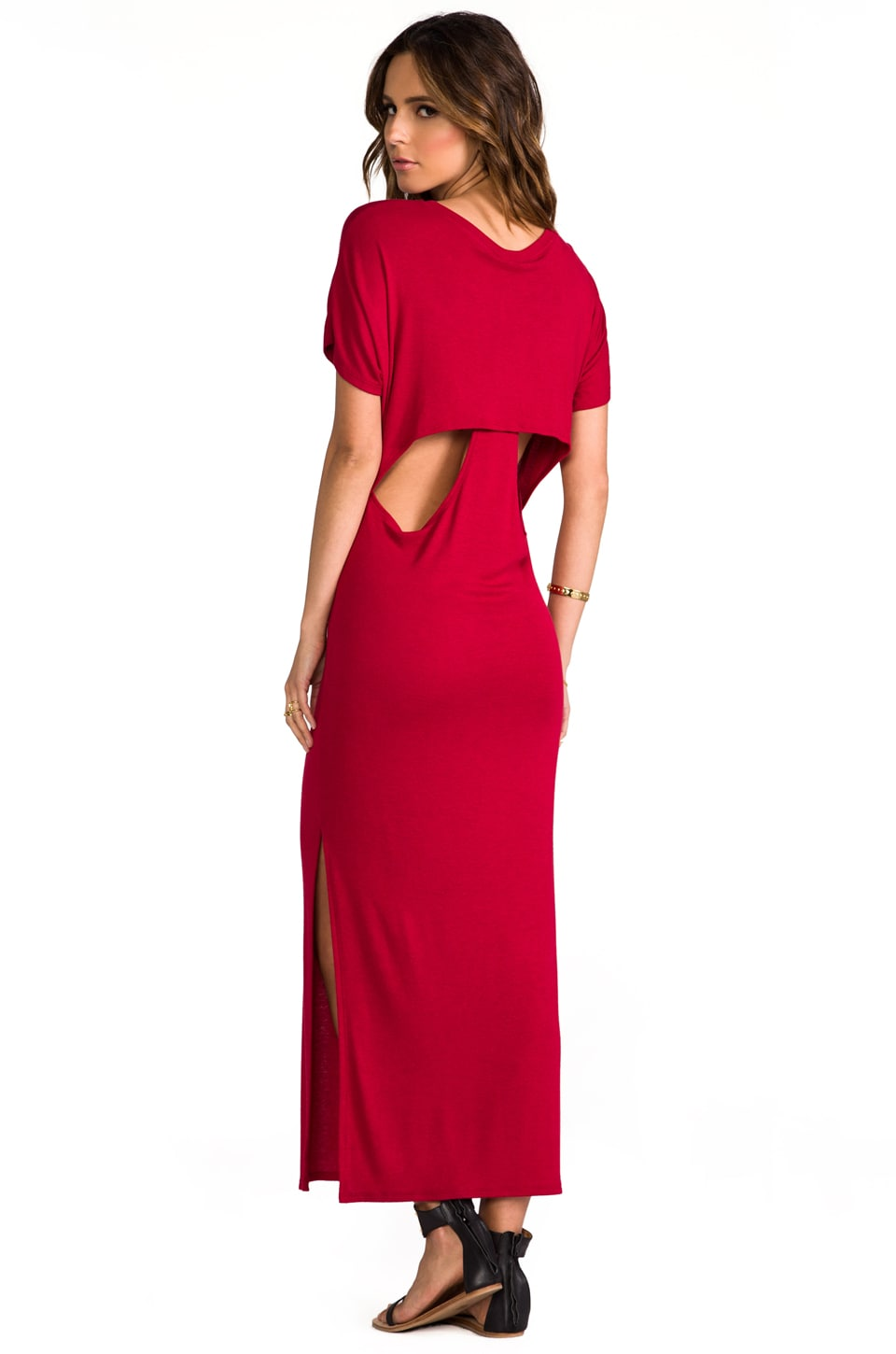 Heather Hidden Racer Maxi Dress in Heather Capri