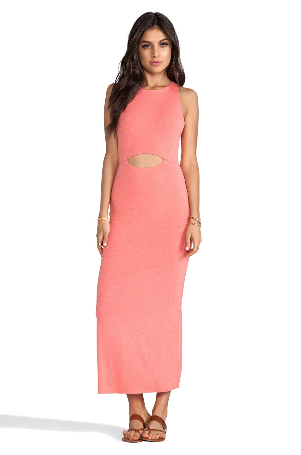 Heather Peekaboo Maxi Dress in Heather Citrus