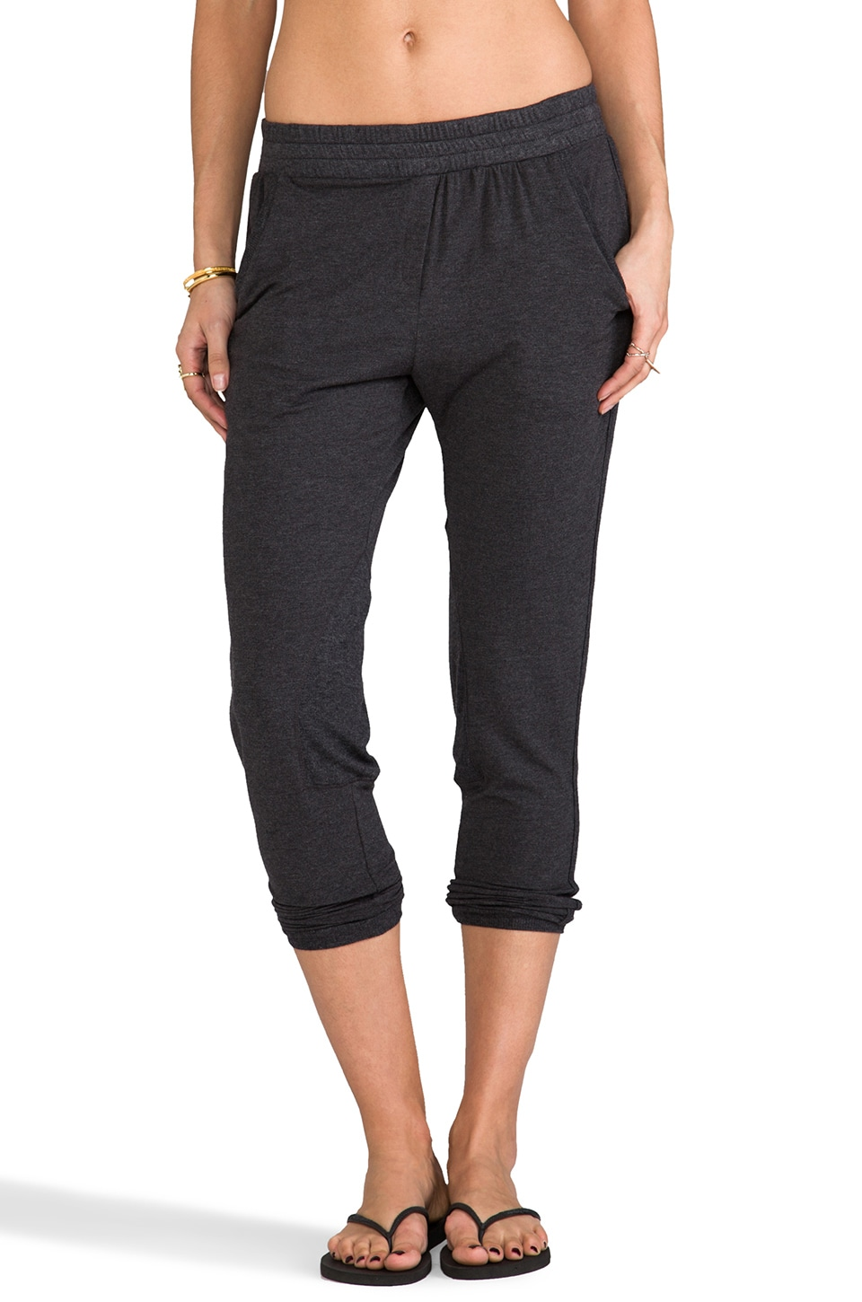Heather Riding Pant in Heather Black