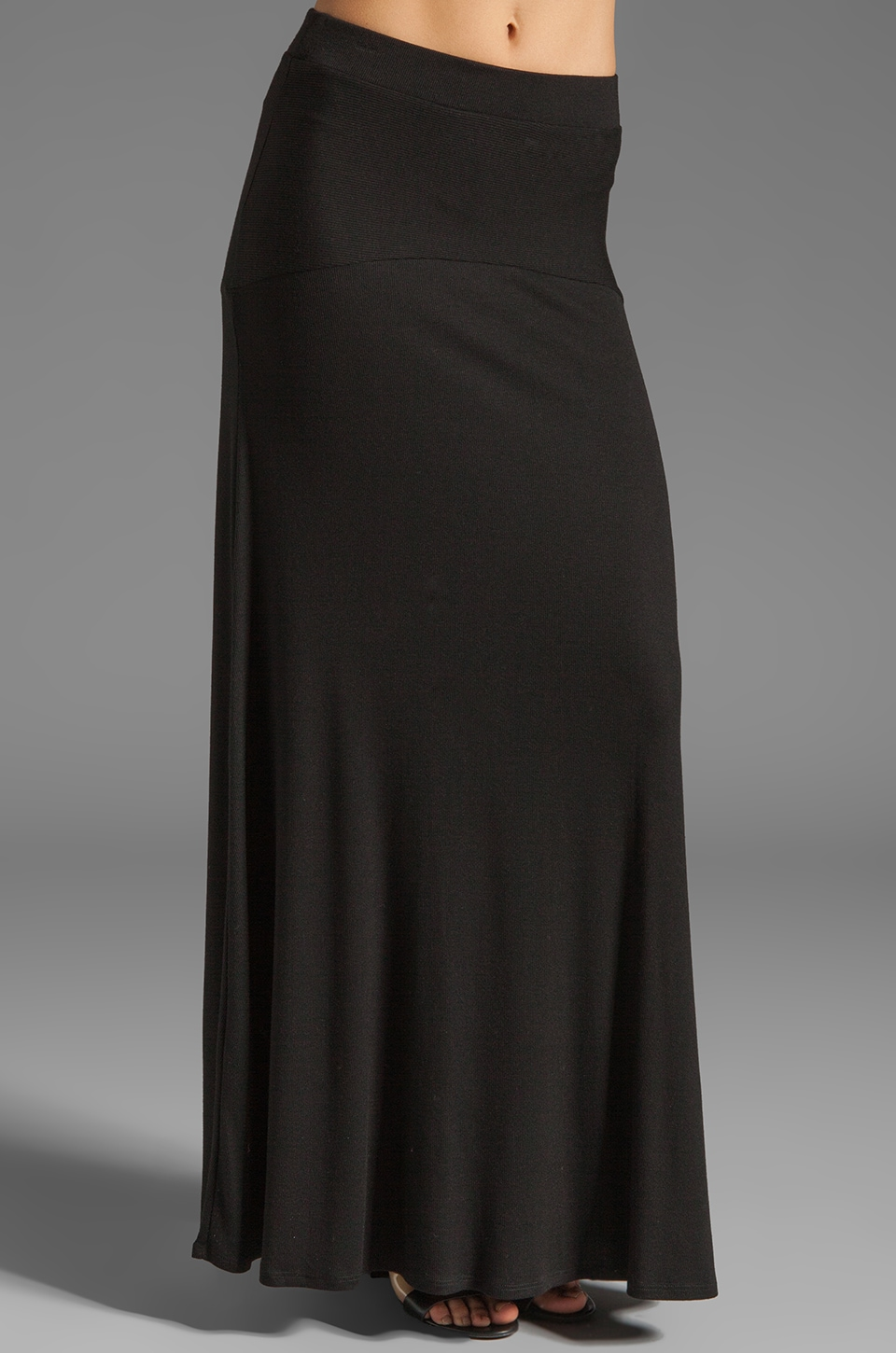 Heather Trumpet Maxi Skirt in Black