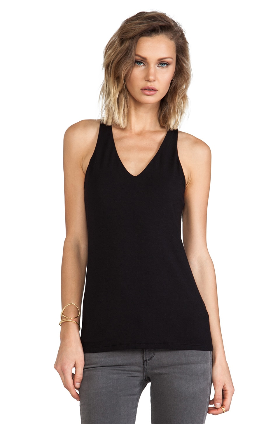 Heather Keyhold Tank in Black