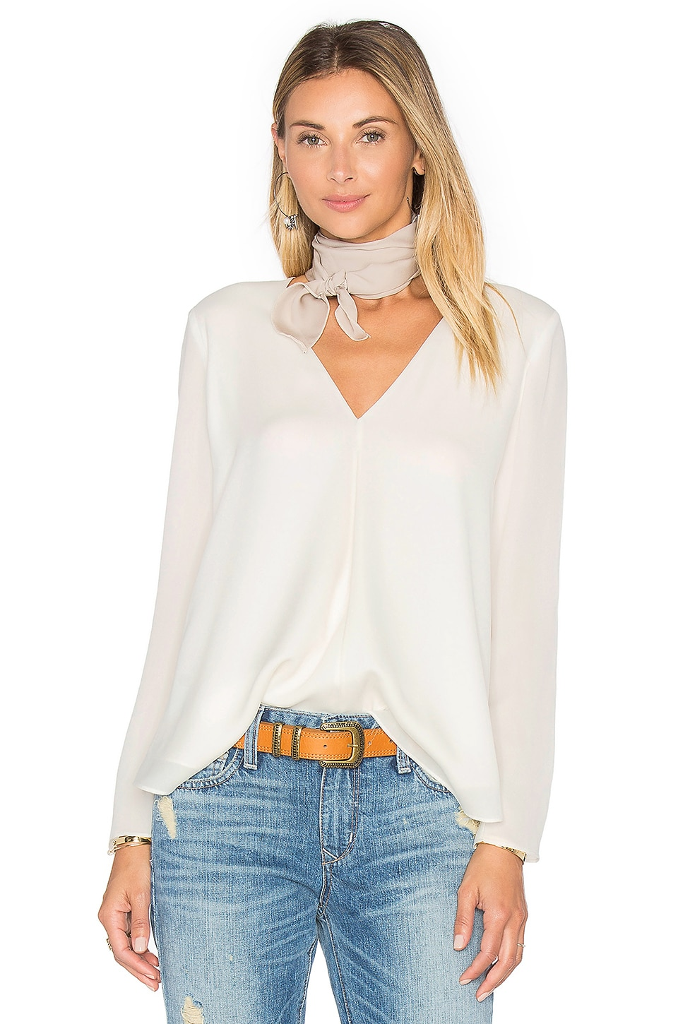 Silk Double Layer Top by Heather