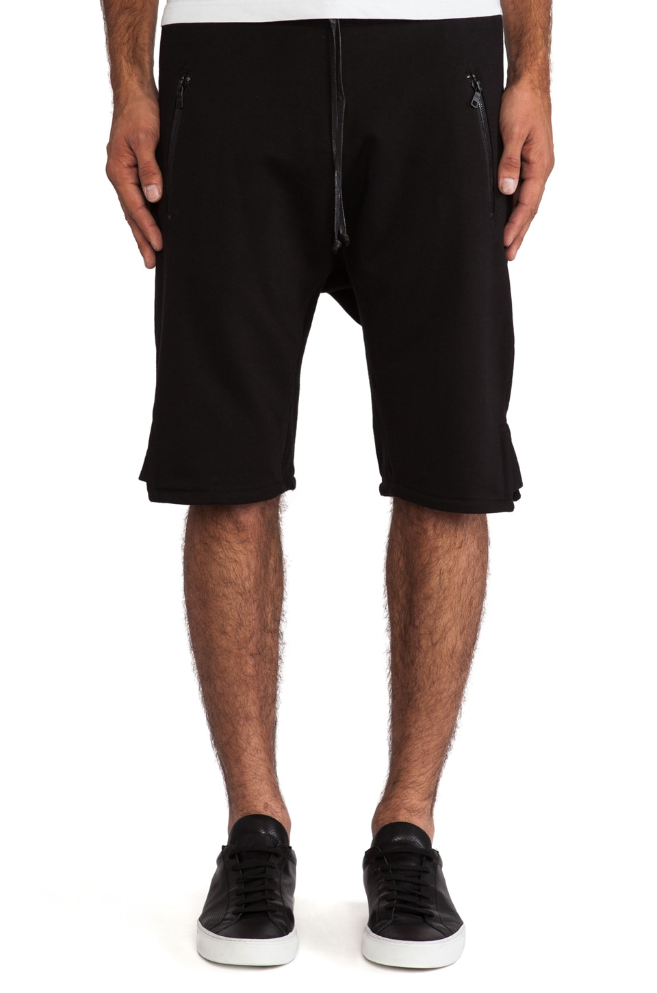 Hudson Jeans Blackout Short in Raw Black