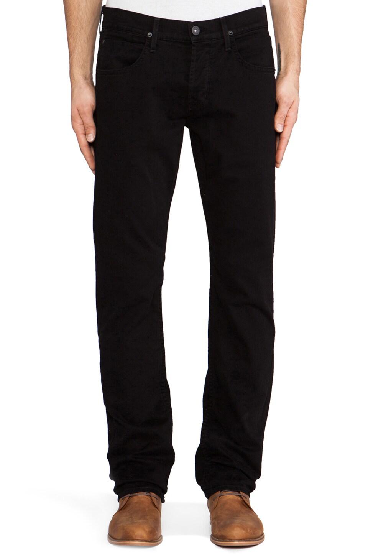 Hudson Jeans Byron Straight in Jet Black