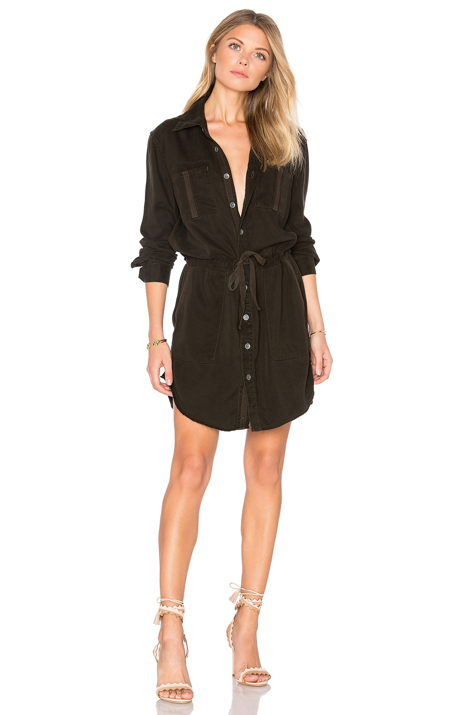 Peyton Military Shirt Dress by Hudson Jeans