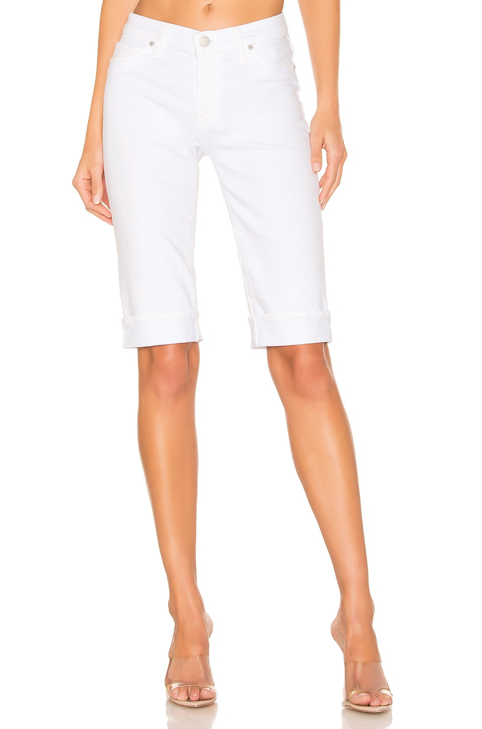 Hudson Jeans Amelia Cuffed Knee Short in White