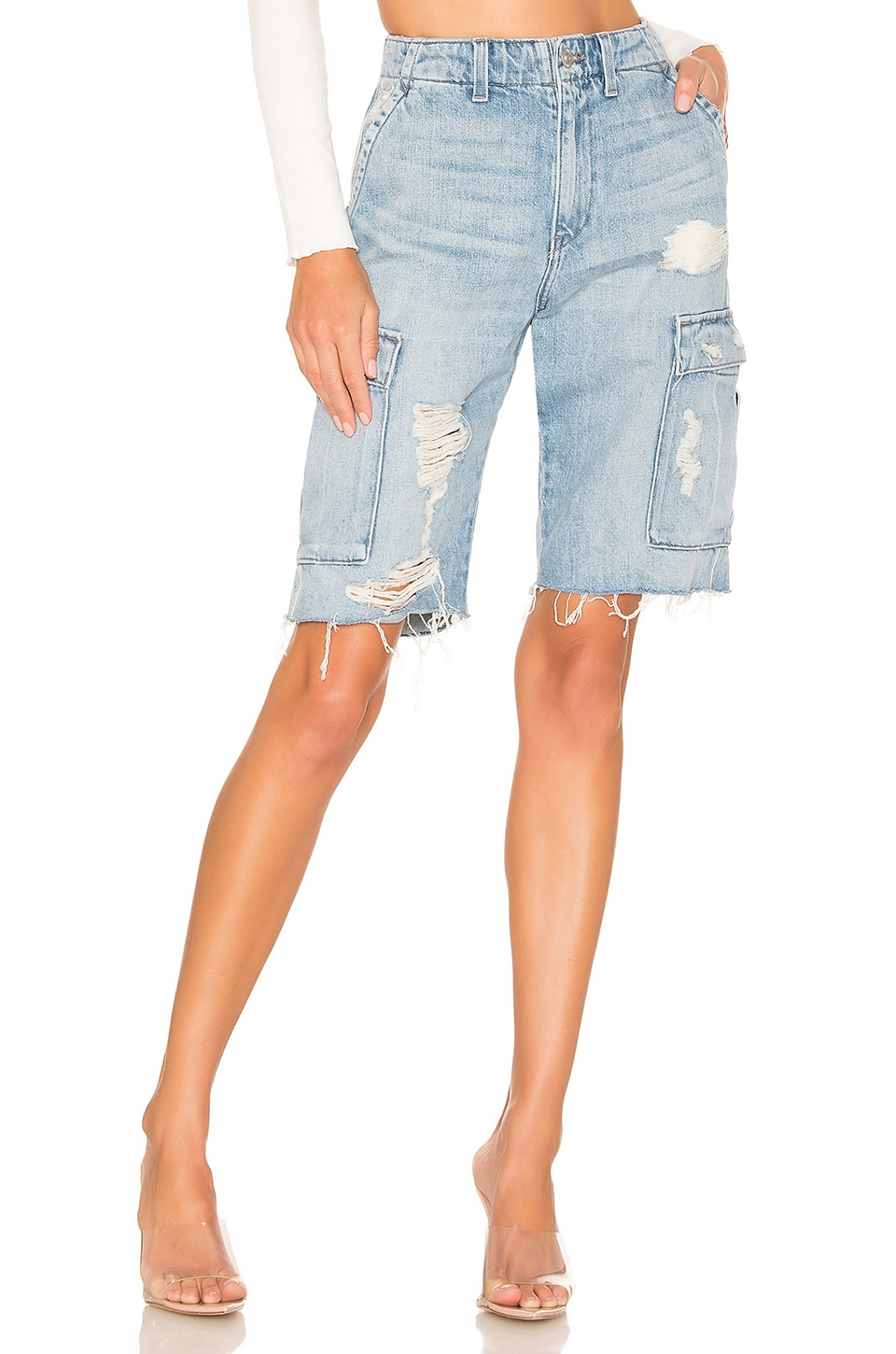 Hudson Jeans Jane Relaxed Cargo Short in Overthrow