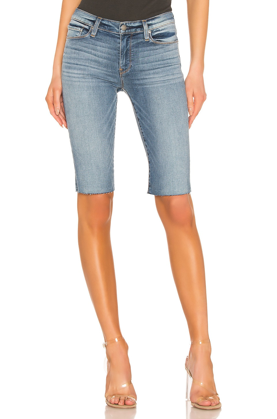 Hudson Jeans Amelia Cut Off Knee Short in Outshine