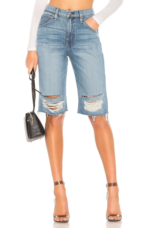 Hudson Jeans Sloane Long Cut Off Short in Worn Vanquish