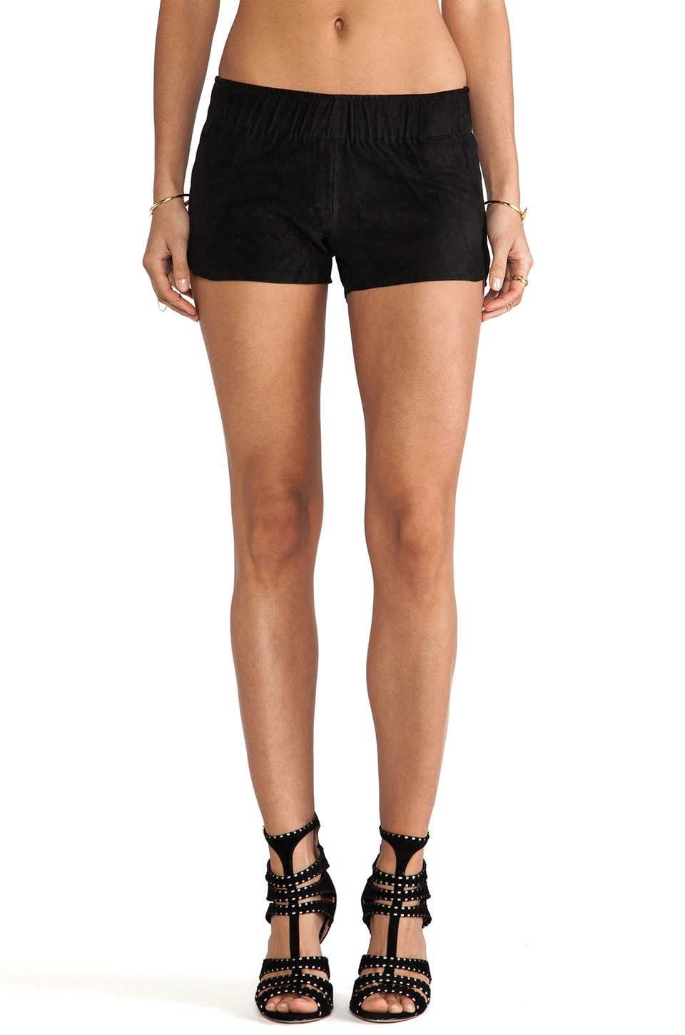 Hudson Jeans Siouxsie Dolphin Short in Black