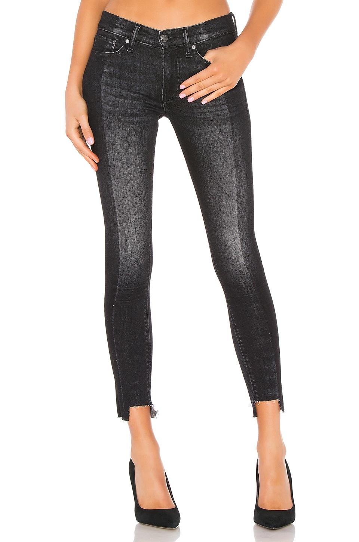 Hudson Jeans Nico Mid Rise Super Skinny in Black Sand