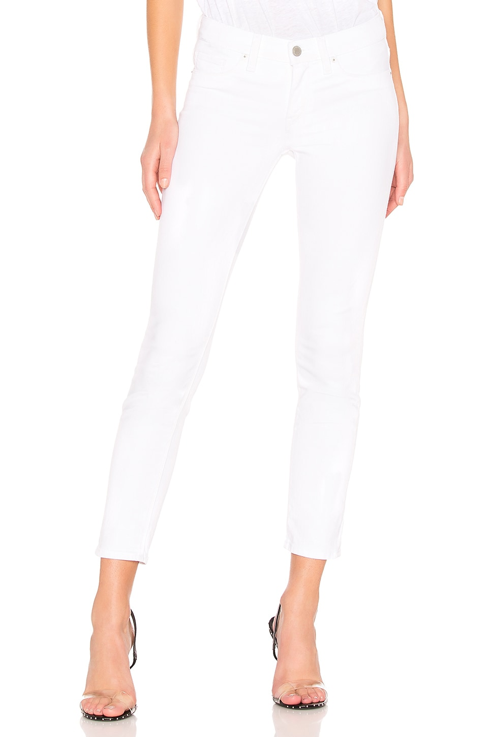 Hudson Jeans Colette Midrise Skinny Crop in White