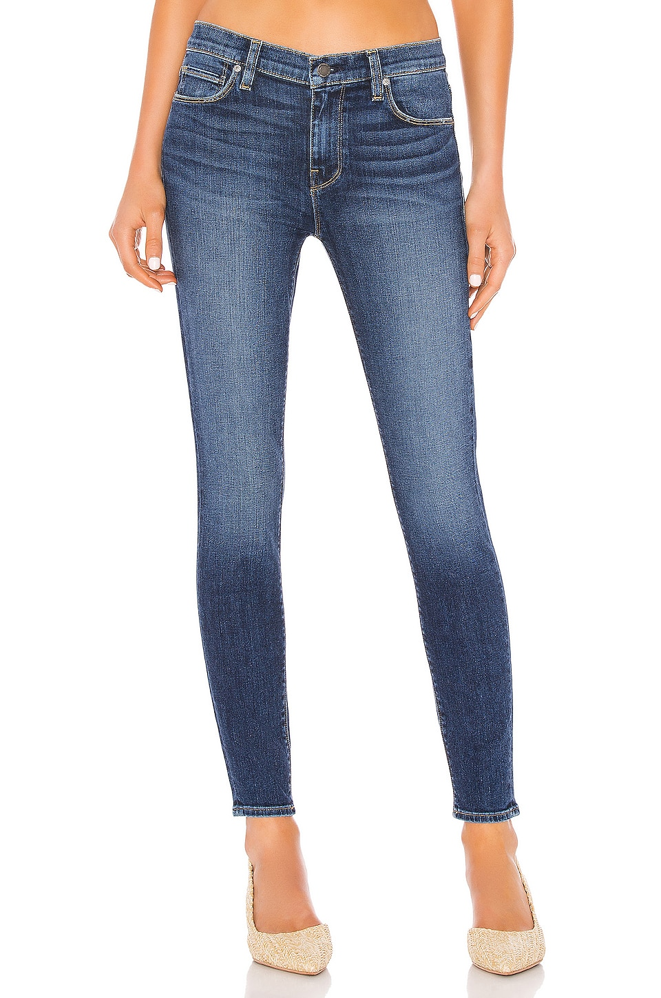 Hudson Jeans Nico Midrise Super Skinny Ankle in No Tears Left