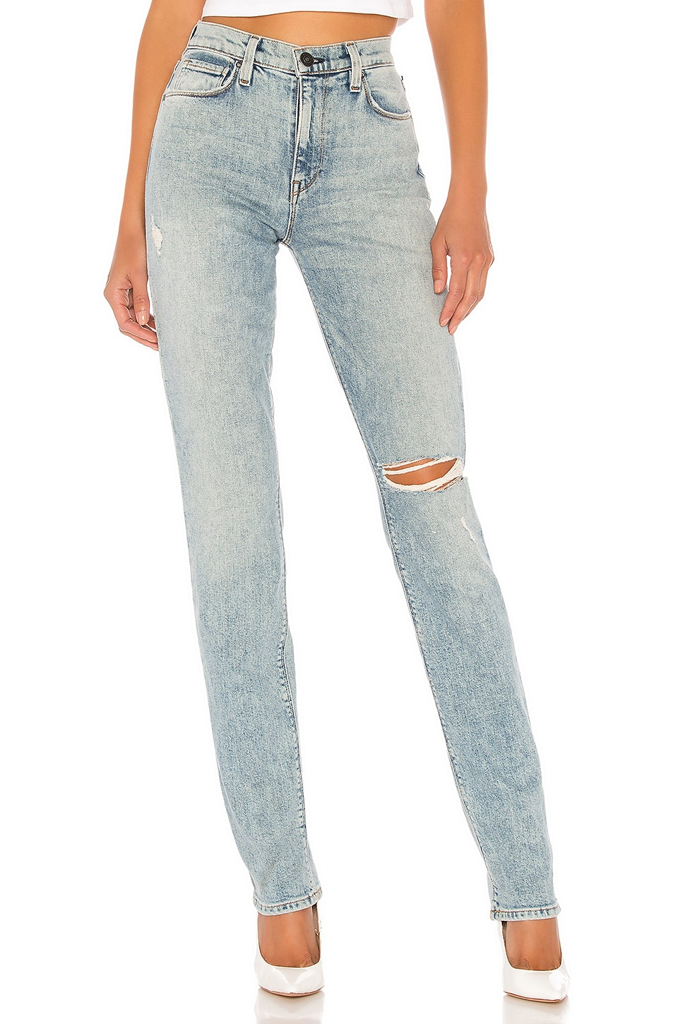 Hudson Jeans Holly High Rise Straight in Preface