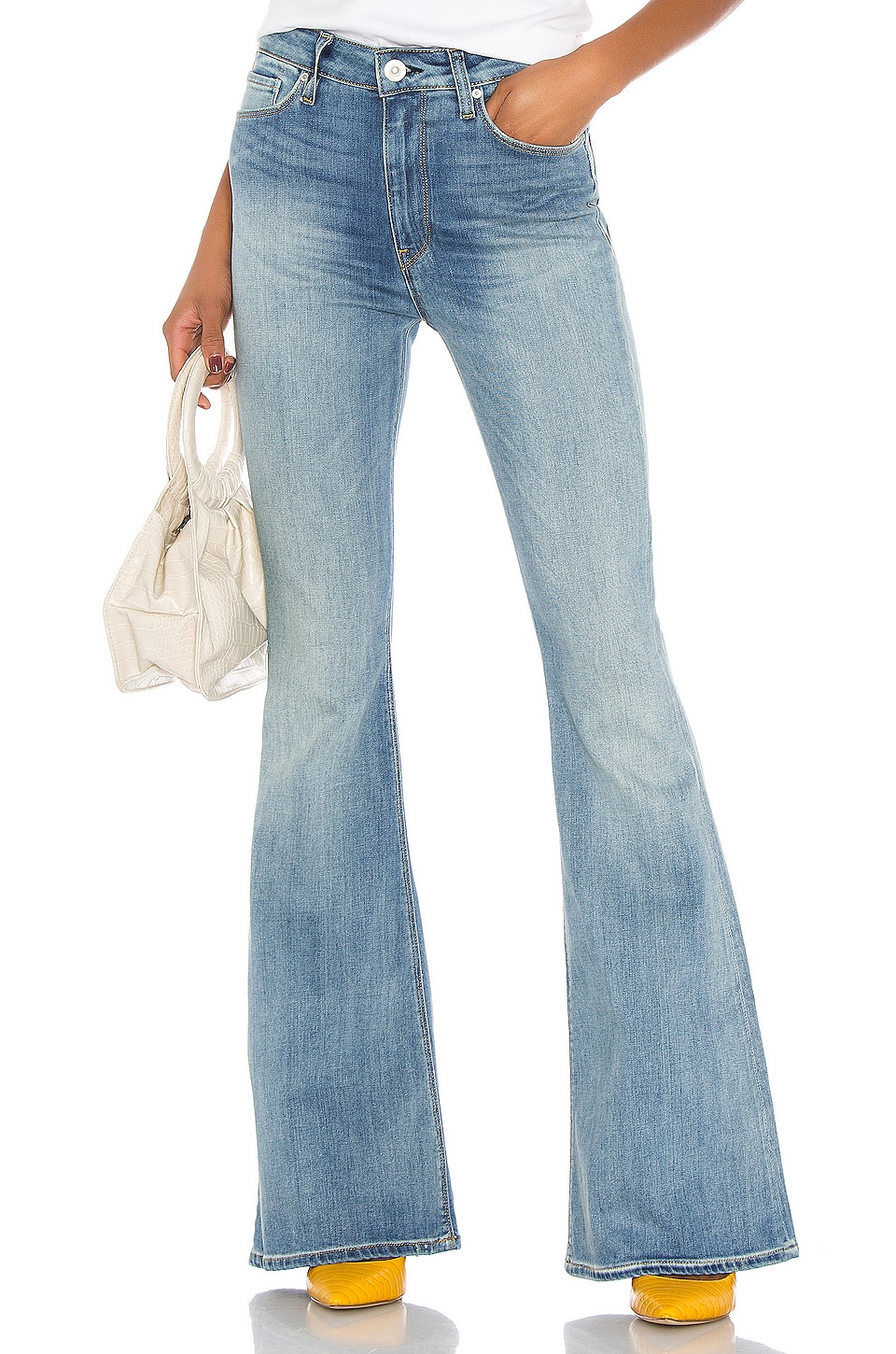 Hudson Jeans Holly High Rise Flare in Word Play