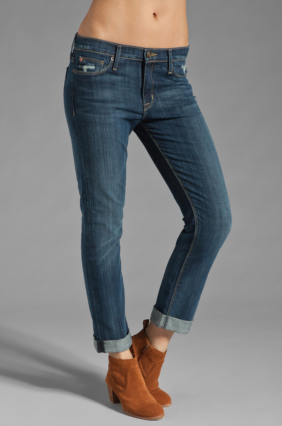 Hudson Jeans Tilda Cuffed Straight Leg in Whitcomb