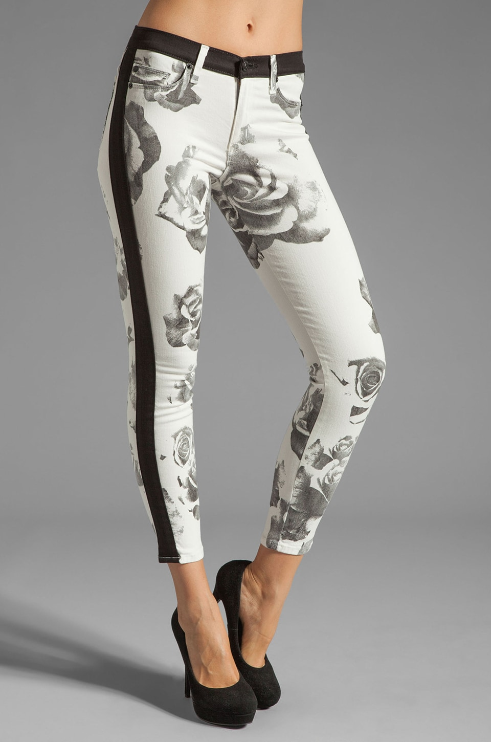 Hudson Jeans in Black/White Floral