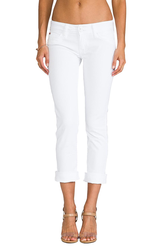 Hudson Jeans Ginny Cropped Denim in White