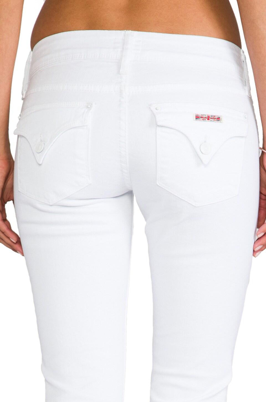 Hudson Jeans Ginny Cropped Denim in White  REVOLVE