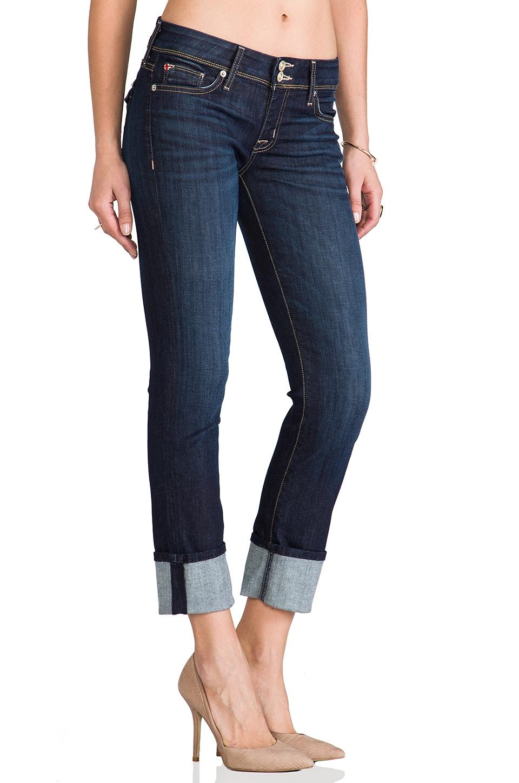 Hudson Jeans Ginny Cropped Denim in Stella