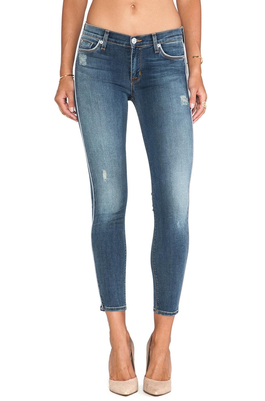 Hudson Jeans Dakota Crop Skinny in Moonstone w/ Grey Piping