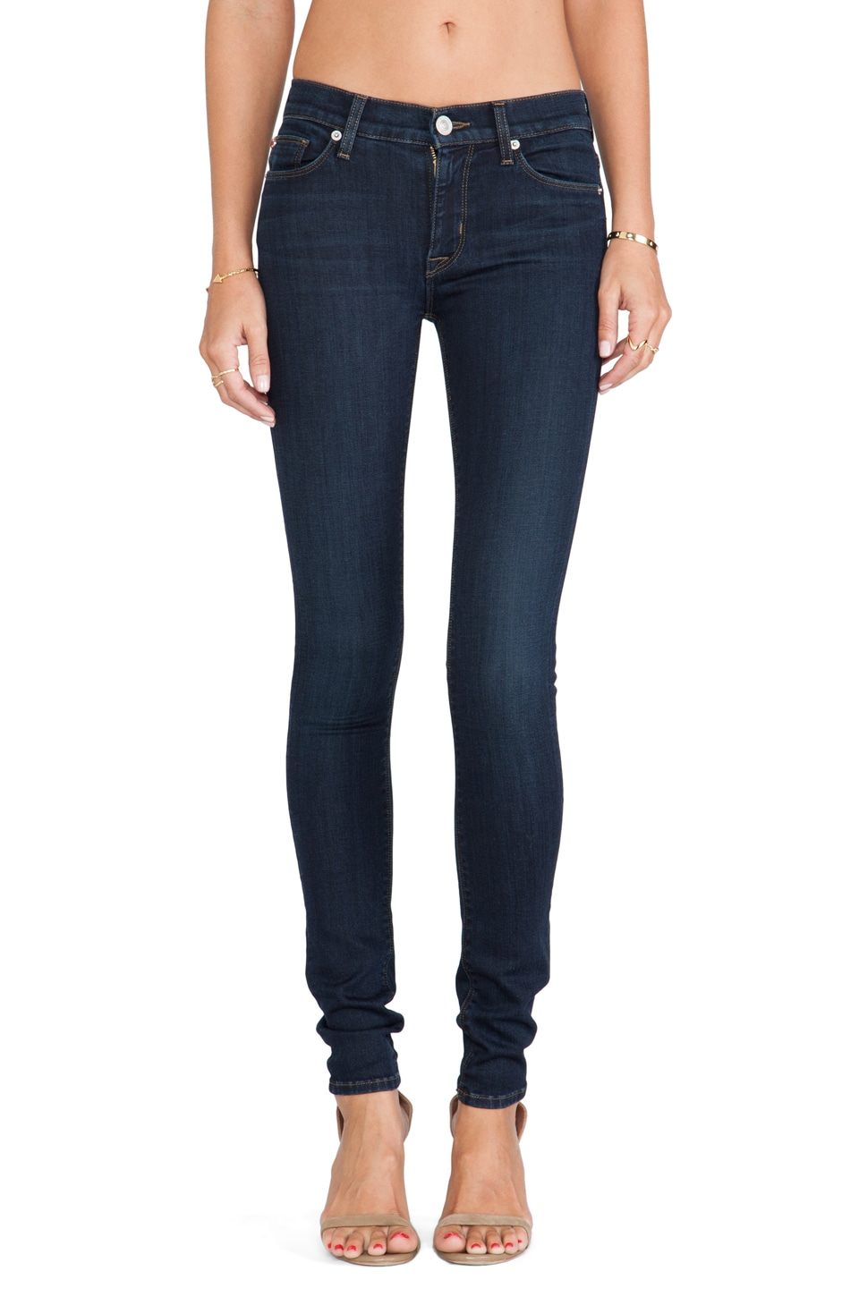 Hudson Jeans Shine Midrise Skinny in Problem Child