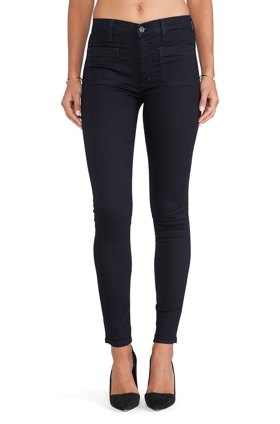 Hudson Jeans Quinn High Waist Super Skinny in Storm